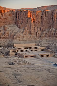 The Memorial Temple of Queen Hatshepsut at Deir el-Bahari, Egypt, Near Sunrise