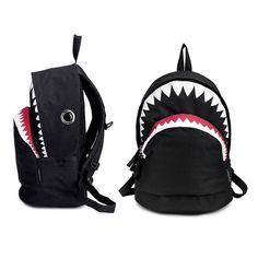 School Bag Big Shark Bite Shark Backpack Bag from EudoraGift. Shop more products from EudoraGift on Wanelo. Black Backpack, Backpack Bags, Fashion Backpack, Mochila Jansport, Articles Pour Enfants, Big Shark, Mini Mochila, Shark Bites, Unique Bags