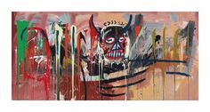 Japanese billionaire Yusaku Maezawa purchased Jean-Michel Basquiat's Untitled at a Sotheby's New York sale of post-war and contemporary art on Thursday. Jean Michel Basquiat, Bad Painting, Basquiat Paintings, Modern Art, Contemporary Art, Whitney Museum, New York, Jackson Pollock, Art Mural