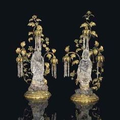 Lot 21 A PAIR OF FRENCH ORMOLU AND ROCK CRYSTAL CHINOISERIE CANDELABRA ATTRIBUTED TO MAISON BAGUES, PARIS, LATE 19TH/EARLY 20TH CENTURY Price realised  GBP 22,500 USD 36,608