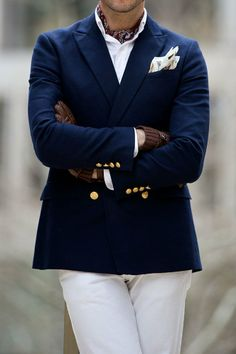Wearing an ascot, especially if you've always wanted to wear one but didn't think you could pull it off.