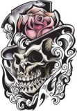 Select from a wide range of skull temporary tattoo designs. All temporary tattoos are available for purchase in our online tattoo gallery. Skull Tattoo Design, Skull Design, Skull Tattoos, Body Art Tattoos, Tattoo Drawings, Tattoo Designs, Tattoo Names, Hai Tattoo, Soft Tattoo