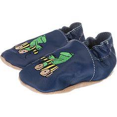 5431d729a55e66 Krabbelschuhe Janosch Tigerente mit Frosch in dunkelblau für Kinder.  barbara · Baby shoes