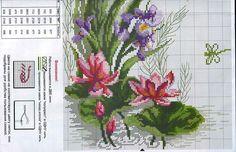 ENCANTOS EM PONTO CRUZ: Flores ~~ PURPLE IRIS  PAGE 2 OF 2