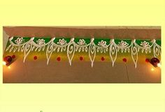 Discover the most awesome free hand border rangoli designs for doors.During festivals in India people make beautiful rangoli designs to decorate their home. Simple Rangoli Designs Images, Rangoli Designs Flower, Rangoli Border Designs, Colorful Rangoli Designs, Rangoli Designs Diwali, Kolam Rangoli, Flower Rangoli, Beautiful Rangoli Designs, Kolam Designs