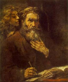 Saint Matthew by REMBRANDT