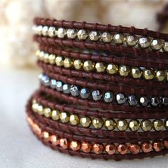 Chan Luu Style Leather Wrap Bracelet with Tutorial