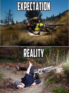 When I attempt switchbacks on my mountain bike. >_<