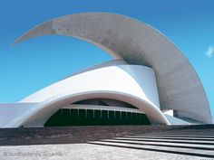 famous landmark building in Santa Cruz, the capital city of Tenerife, Canary Islands designed by renowned architect Santiago Calatrava and opened to the public in 2003.