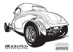 Low Coupe Coloring Page