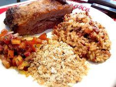 Carreteiro de arroz vermelho e cateto :: Pimenta na cozinha