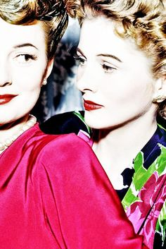Olivia de Havilland and her baby sister Joan Fontaine