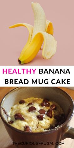 This banana chocolate chip mug muffin is a must-try healthy snack or healthy breakfast!  A super easy microwave mug cake that's so delicious and gluten-free too! #desserts #healthydesserts #healthysnacks #glutenfree #mugcake #bananabread #chocolate #singleserving #almondflour #healthybreakfast