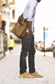 Gift for him - urban casual bag. Make sure to add inside it his favourite sketch book or wall paper ;)