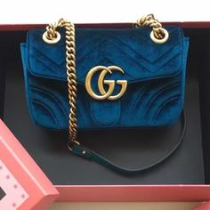 $218 Gucci GG Marmont Velvet Mini Shoulder Bag 443497 2016 Email: winnie@shoescrazy... handbags wallets - http://amzn.to/2jDeisA