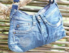 liebedinge: eine jeanstasche {upcycling}
