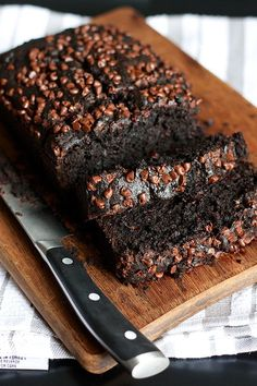 Double-chocolate banana bread {Oh my God, make this, it's easy and so good!}