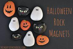 Manualidades de Halloween: pintar piedras : ¿Qué os parece esta propuesta para realizar con los niños? Una manualidad muy divertida que consta de dos partes, una fase previa con excursión familiar in