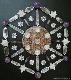 Mandala of crystals