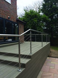 To complement our Pro-Railing range of products, we offer a wire rope system as a choice of infill. The stainless steel 3mm strand wire rope system is a simple and cost effective alternative to our cross bar system. It can be fixed to most surfaces including wood, metal and brick and gives an industrial feel to your balustrade, making it ideal for external applications in residential and commercial environments. Metal Railings, Balconies, Brick, Alternative, Commercial, Wire, Industrial, Stainless Steel, Range
