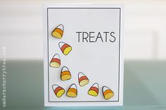 Halloween card idea; Treats (card) | Under A Cherry Tree