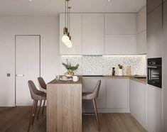 Apartment Living Room Decor Ikea Entryway 24 Ideas For 2019 Studio Kitchen, Kitchen Room Design, Modern Kitchen Design, Home Decor Kitchen, Interior Design Kitchen, Kitchen Furniture, Home Kitchens, Kitchen With Living Room, Kitchen Ideas