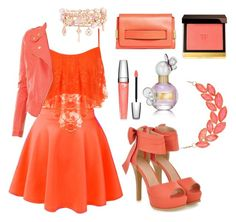 """""""The peach collection"""" by aamandlaura on Polyvore"""
