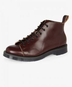Established in 1906, Northampton (England) based shoemakers George Cox are reputed for their uncompromising craftsmanship and traditional quality values. The 14-hole Monkey Boot is handcrafted in the UK from high shine leather and features a heavy duty ru