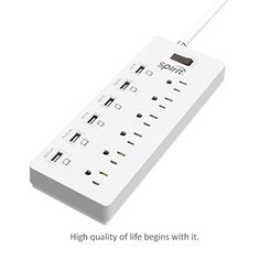 Introducing Spirit 6Outlet Surge Protector 6ft Cord Power Strip with 6 Ports USB Charging StationWhite. Great product and follow us for more updates!
