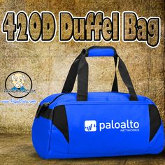 420D Duffel Bag, a dynamic product that delivers some of the great features like zippered main compartment, front zipper compartment, side pockets, 2 grab Handles, detachable shoulder strap and helps in promoting your logo through the product with wide range of facilities among your customers.