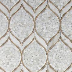 Walker Zanger-TANGENT   Stone Mosaic Zephyr : Finish: Honed
