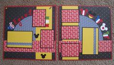Epcot 12 x 12 Disney 2-Page Scrapbook Layout