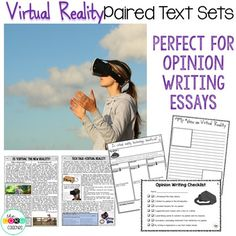 Virtual Reality Paired Texts: Great for Argumentative and Opinion Writing in 3rd, 4th, 5th, and 6th