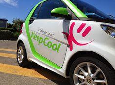 SEMI COVERING KEEP COOL sur smart décorée par agence de publicité signpub Car, Automobile, Autos, Cars