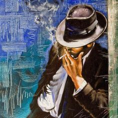Portrait of the man with a cigarette - Stock Photo , Wow Painting, African Paintings, Barn Art, Ecole Art, Man Smoking, Creative Infographic, Poster Prints, Art Prints, Home Decor Wall Art
