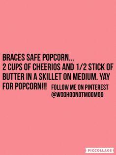 #braces food                                                                                                                                                      More Braces Food, Braces Tips, Teeth Braces, Braces Problems, Braces Retainer, Getting Braces, Brace Face, Braces Colors, Dental Humor