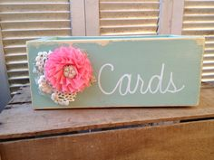 Mint and Coral Wedding Cards Holder by SassySouthernCharm, $20.00