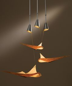 Hubbardton Forge 133360 Icarus Adjustable Pendants 133360 Made in USA 133360 Icarus Adjustable Pendants, one small, one medium, one large, on a triple triangle canopy with shade options; includes adjustable stems and triangle canopy kit. Lighting Sale, Lighting Design, Pendant Lighting, Urban Home Decor, Modern Apartment Decor, Dining Room Lighting, Bedroom Lighting, Orange House, Discount Lighting