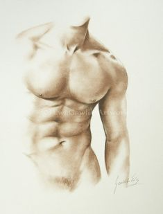 Male Nude Sketch Male Torso Order Male Drawing Replica of Art Sepia Drawing Made to Order Naked Man Sketch Hand Drawn Wall Art Gift Body Drawing, Anatomy Drawing, Human Anatomy Art, Gift Drawing, Male Figure Drawing, Drawing Hands, Female Drawing, Figure Sketching, Drawing Tips