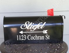 Family Name Mailbox Decal-Custom Mailbox Vinyl by NanasCreations91