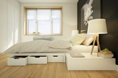 modular furniture concept was created by the Moldovian design Studio Curly for the Pin Win competition. Every piece of furniture serves double duty Modular Furniture, Furniture Plans, Furniture Design, Small Space Living, Living Spaces, Tiny Apartments, Decorating Small Spaces, Interior Inspiration, Decor Styles
