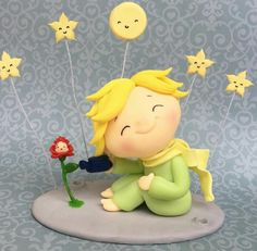 Figuras modeladas Polymer Clay Projects, Clay Crafts, The Little Prince Theme, Prince Cake, Picture Holders, New Years Eve Party, Cold Porcelain, Fondant, Cute Wallpapers