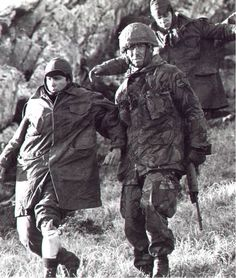 Argentine soldier captured, Falklands war 1982, pin by Paolo Marzioli