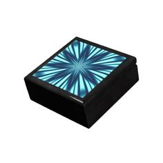 Blue Star Design Box Jewelry Boxes