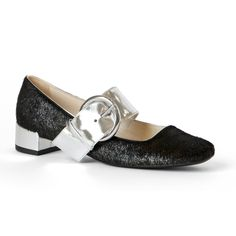 If you want to hit the halls with a fresh, more dressed-up attitude, try incorporating a low block heel into your look.