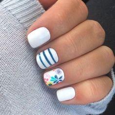 43 Popular Nail Art Designs Ideas For Summer 2019 - Nägel - Nagellack Spring Nail Art, Nail Designs Spring, Nail Art Designs, Cute Spring Nails, Spring Makeup, Spring Art, Popular Nail Art, Nagellack Design, Manicure E Pedicure