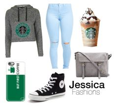 """""""Mornings"""" by jessieluv05 on Polyvore featuring Casetify, Topshop and Converse"""