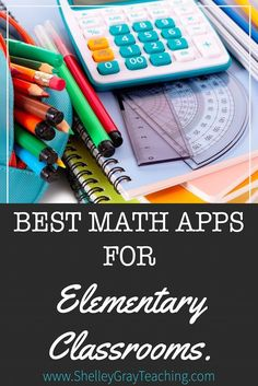 With greater access to technology than ever before, math apps and websites are widely used in today& classrooms. I wanted to provide you with a comprehensive list of some of the best ones out there, so I sought advice from our teacher community! Math For Kids, Fun Math, Math Stations, Math Centers, Math Resources, Math Activities, Math Strategies, First Grade Math, Fourth Grade