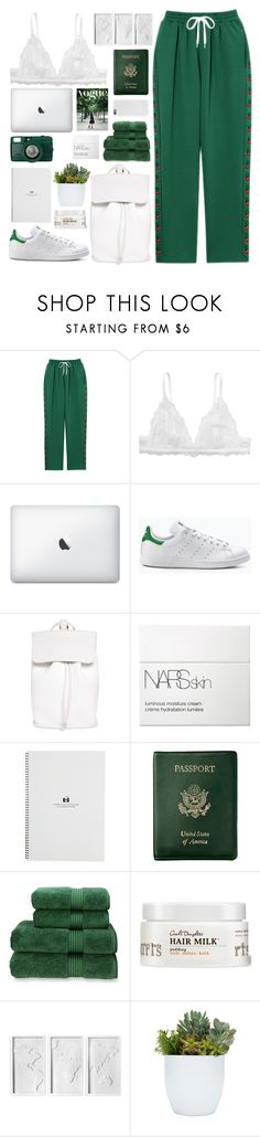 """""""Lets Go Green"""" by tazzibear ❤ liked on Polyvore featuring Monki, DESA 1972, NARS Cosmetics, Royce Leather, Christy, Carol's Daughter and Umbra"""