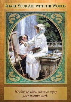 Oracle Card Share Your Art With The World | Doreen Virtue | official Angel Therapy Web site